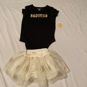 New w/tags from Macy's #adorbs onsie and skirt set